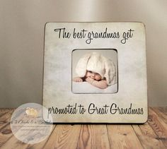the best grandmas get promoted to great grandmas personalized picture frame parent gift new great grandparent frame