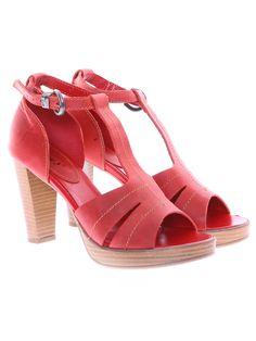 Lui Levi doamnelor sandale roşu Peeps, Peep Toe, Platform, Shoes, Fashion, Sandals, Moda, Zapatos, Shoes Outlet