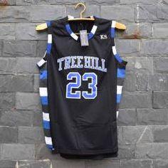 c0453ce3a985 Tim Van Steenbergeb Nathan Scott 23 One Tree Hill Ravens Basketball Jersey  All Sewn-B