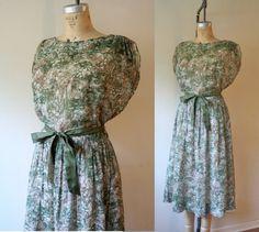 Beautiful vintage 1950s sheer dress...LOVE it!