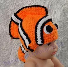 $9.99 Newborn Baby Boy Girl Clown Fish Crochet Knit Hat Cap Photography Photo Prop K11 #handmade #DressyEverydayHoliday