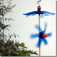 Cute windmill from a bottle. Great tutorial.