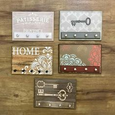 Chalk Crafts, Wooden Key Holder, Wooden Plaques, Home And Deco, Gisele, Diy Crafts To Sell, Wall Signs, Chalk Paint, Diy Art