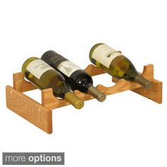 4-bottle Stackable Wood Dakota Wine Rack