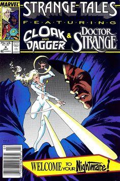 Strange Tales #4 (Jul '87) cover by Kevin Nowlan. #comics #Cloak #Dagger