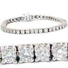 4.00CT Diamond Tennis Bracelet 14K White Gold - http://www.wonderfulworldofjewelry.com/jewelry/bracelets/400ct-diamond-tennis-bracelet-14k-white-gold-com/ - Your First Choice for Jewelry and Jewellery Accessories
