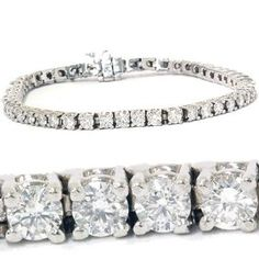 4.00CT Diamond Tennis Bracelet 14K White Gold - http://finejewelrygalleria.com/jewelry/bracelets/400ct-diamond-tennis-bracelet-14k-white-gold-com/