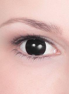 Blackout Kontaktlinsen ohne Pupille