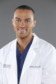 He could be my fake doctor any freaking day... Jesse Williams as Jackson Avery - Season 10 cast photos