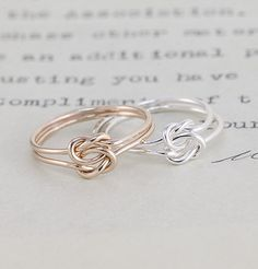 Lover's Knot Ring... I prefer both gold and silver.