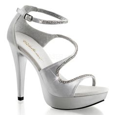 FABULICIOUS COCKTAIL-526 Silver Satin-Silver Closed Back Sandals - Shoecup.com
