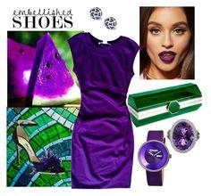 """embellished shoes"" by ks-sk on Polyvore featuring Jimmy Choo, Yazi, Diane Von Furstenberg, Crayo and Asprey"