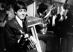 "11th March 1964. The Beatles film ""I Should Have Known Better"" at Twickenham Studios."
