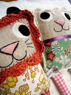 Really darling with their crocheted manes.