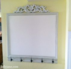 Cute Idea; take architectural pieces and put them together and paint  White Board Command Station - Lolly Jane
