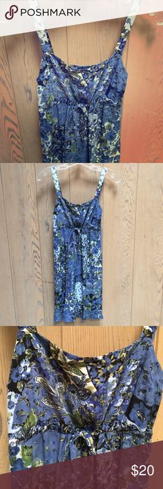 Cinnamon Girl dress- Marsha Style Made in Hawaii. Blue short Marsha style dress. Cinches just below the bust. Just above the knees. Good condition. Cinnamon Girl  Dresses