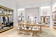 Walk in Closet Inspiration How to Give Your Home the Club Monaco Look via @domainehome