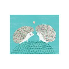 Hedgehogs in Love Poster Decal    The Land of Nod ll THEY'RE IN LOVE!