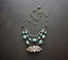 Amazonite Multi Strand Assemblage Necklace with by BevaStyles, $62.00