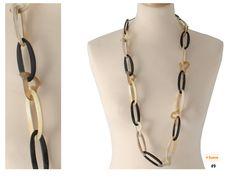 Wunderschöne Halskette aus echtem Bufflon-Kuh Horn! Mit keinen Herzchen. Jetzt in unseren Shop bestellen