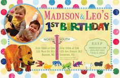 Brown Bear Brown Bear what do you see? Birthday invitations