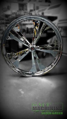 Our Chrome Eclipse wheel! The Eclipse is available in a Chrome, Black Double Cut or a Polish finish! Check out more of our wheels and accessories @ www.smtmachining.com #smt #bikes #custombuild #chrome #harley #honda #motorcycles #ride #rims #metrics #victory
