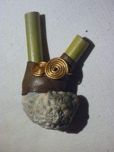 Water Kuripe with shell and copper spirals. www.facebook.com/MotherofWater