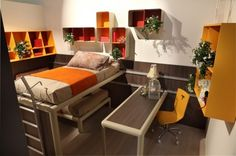 How to choose Bunk Beds in Orange County: Orange Red Brown Bunk Beds In Orange County ~  Bedroom Inspiration