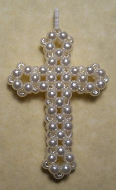 Beaded Cross by inthebackground on deviantART