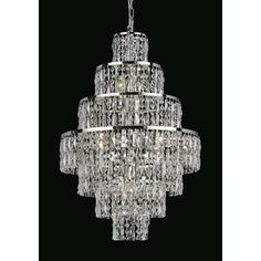 Impex New York 8 light crystal chandelier in polished chrome - Art Deco style, chic and cascade of faceted crystal rectangles & beads. Hallway Chandelier, Lampshade Chandelier, Chandelier For Sale, Wagon Wheel Chandelier, Pendant Chandelier, Chandelier Lighting, Crystal Chandeliers, Glass Ceiling, Ceiling Lights