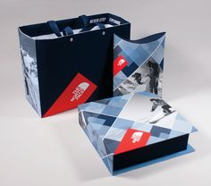 The North Face Packaging Redesign Never Stop Exploring, Ski And Snowboard, Winter Sports, Diamond Shapes, Typography Design, The North Face, Packaging, Blue, Motto
