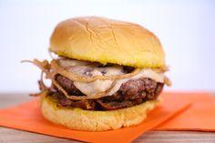 Michael Symon's French Onion Burger.  http://beta.abc.go.com/shows/the-chew/recipes/French-Onion-Burger-Michael-Symon