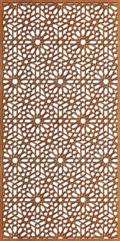 Based on traditional Islamic and Arabic design work, our pattern has an exotic elegance. Well balanced pattern with consistent sized fret work. Laser Cut Screens, Laser Cut Panels, Laser Cut Metal, Laser Cutting, Islamic Art Pattern, Pattern Art, Metal Screen, Screen Doors, Motif Arabesque