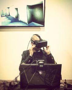An awesome Virtual Reality pic! Virtual reality #mayhem... #nyc #Brooklyn #Designer #boy #allblack #vr #virtualreality #architecture #interiors #design #equinox #fitness  #muah by grafikarchitekt check us out: http://bit.ly/1KyLetq