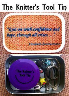 Elizabeth Zimmermann: The Knitter's Tool Altoid Tin for your Knitting Project Bag