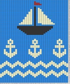 Tricksy Knitter Charts: stormy seas by jannieahmed Bead Loom Patterns, Cross Stitch Patterns, Knitting Patterns, Crochet Patterns, Knitting Charts, Knitting Stitches, Baby Knitting, Cross Stitch Cards, Cross Stitch Embroidery