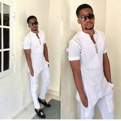 @iy_armani #tradlookbook #histradlook African Attire For Men, African Men Fashion, Africa Fashion, African Wear, Ethnic Fashion, African Traditional Wear, Traditional Fashion, Traditional Outfits, Fashion Wear