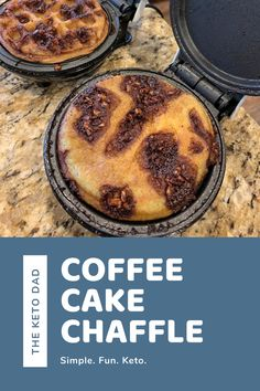 Keto Coffee Cake Chaffles are a delicious and fun breakfast option! We make these in the mini waffle maker or the griddle. You can even freeze them and thaw/toast when you're ready to eat! We topped it with a little frosting or whipped cream. Enjoy! Keto Boss Babe added our easy cream cheese frosting on top. #ketorecipes #ketodesserts #coffeecake #ketorecipeseasy Mini Waffle Recipe, Waffle Maker Recipes, Low Carb Sweets, Low Carb Desserts, Low Carb Recipes, Dash Recipe, Keto Cake, Keto Cheesecake, Keto Waffle