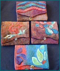 Needle felting - pouches