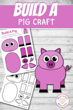 Make a cute little pig with this farm yard cut and paste craft. It's a simple craft that is great for developing fine motor skills - perfect for preschool and kindergarten! There's a color and a black and white pig template so your little ones can decorate it as well! Grab the templates over at Nurtured Neurons! #pigs #pigcrafts #preschoolcrafts #farmactivities #preschoollearning #simplecrafts #kindergarten #farmyard #farmcrafts #finemotoractivities Pig Crafts, Farm Crafts, Preschool Learning, Preschool Crafts, White Pig, Farm Activities, Cute Pigs, Neurons, Farm Yard