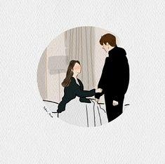 Korean Drama List, Couple Art, Lee Min Ho, Goblin, Cute Drawings, Lovers Art, Iphone Wallpaper, Illustration Art, Ships