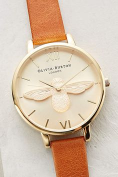 I really think I might need this Moulded Bee Watch by Olivia Burton anthropologie.com #anthropologie