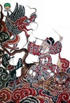 中国明清皮影艺术作品欣赏-╭★肉丁网