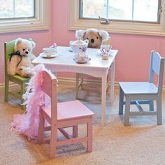 This kids activity table is great for board games, tea parties, arts and crafts and much more.