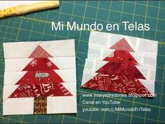 Pino en Paper Piecing - Técnica con Papel - YouTube