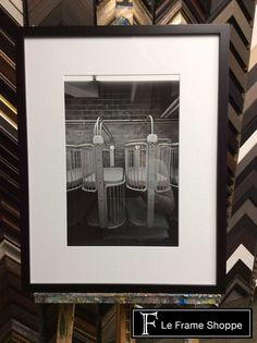 Classic black frame and white mat lets the photograph take center stage. #leframeshoppe