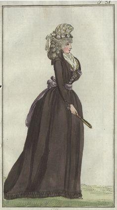 chemise a plis (chemise with pleats) - November 1792 Journal des Luxus und der Moden