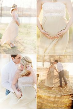 romantic maternity shoot