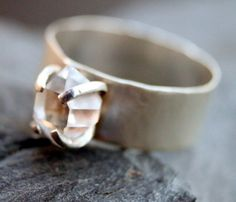Herkimer Band Ring by Villain Accessories // raw #wearabledesign #designtrend