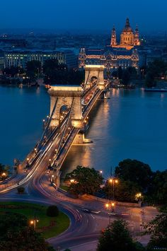 Budapest Hungary chain bridge. Another site I have on my revisit list.  At night the view is incredible.